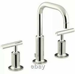 Kohler K-14406-4-SN Purist Bathroom Faucet Ultra-Glide Valve, Polished Nickel