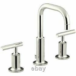 Kohler K-14406-4-SN Purist Widespread Bathroom Faucet with Ultra-Glide Valve Tec