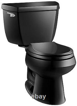 Kohler K-3577-7 Wellworth Class Five 2-Piece Round Toilet WithLeft Lever Less Seat