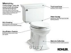 Kohler K-4642-0 White Memoirs Stately 1.6 GPF Toilet Tank Only with AquaPiston