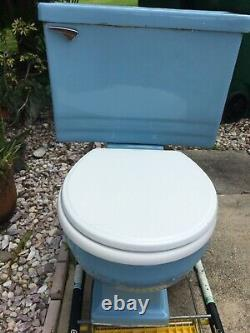 Light Blue 1964 vintage toilet made by Rheem bathroom