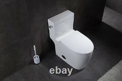 Marino 43295 Elongated One Piece Toilet with Quiet Close Seat, ADA Comfort Height
