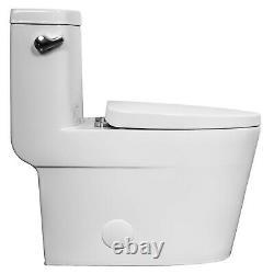Marino439ES One Piece Elongated Toilet with Quiet Close Seat, 1.28 gpf, cUPC, White