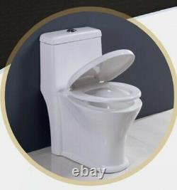 Modern One Piece Toilet With Dual Flush System And Soft Closing Seat