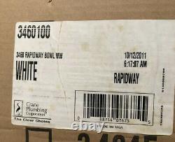 NEW Crane Plumbing 3460 Rapidway Elongated Toilet Bowl White