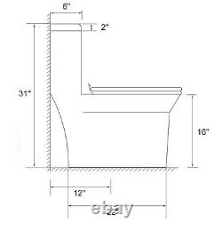 One Piece Toilet Dual Flush Elongated bowl Soft Closing Seat- Local Pick up Only
