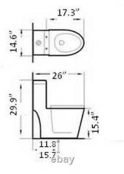 One Piece Toilet Modern Bathroom Toilet Dual Flush Toilet Baita- 26