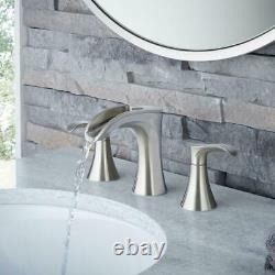 Pfister Brea 8 Widespread 2-Handle Waterfall Bathroom Faucet in Brushed Nickel