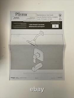 Pfister Deckard LG89-8DAB Tub and Shower Trim Matte Black