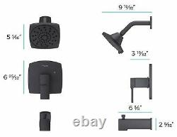 Pfister Deckard Matte Black 1-Handle Shower Faucet LG89-8DAB