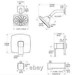 Pfister LG89-8DAB Deckard Tub and Shower Trim