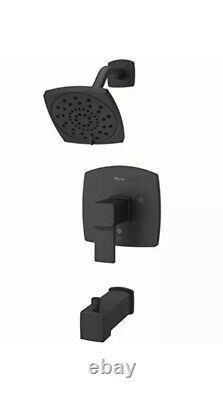 Pfister LG89-8DAB Deckard Tub and Shower Trim, Matte Black, Square shower faucet