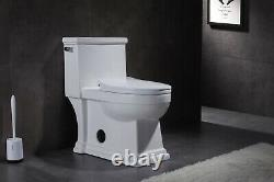 Romano 33294 One Piece Elongated Toilet with Slow Close Seat, ADA Comfort Height
