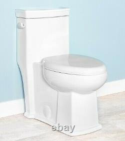 Romano 42110 One Piece Toilet Elongated with Slow Close Seat, ADA Comfort Height