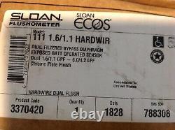 SLOAN Ecos 111 1.6/1.1 Hardwired Flush Valve 3370420 Dual Flush Fast Shipping