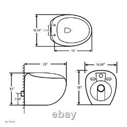 Swiss Madison Plaisir Wall Hung Dual Flush Elongated Toilet Bowl in White