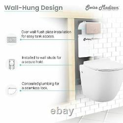 Swiss Madison Wall Hung Toilet Concealed Tank Carrier 2x4 Black N/A