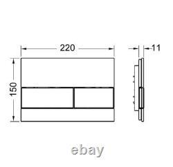 TECE 8cm SLIM FRAME GLASS FLUSH PLATE COMPACT RIMLESS WALL HUNG TOILET SOFT CLOS