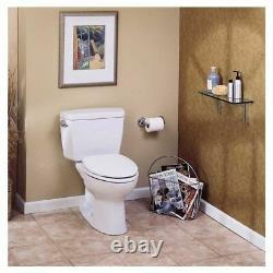 TOTO Drake Two-Piece Round 1.6 GPF Toilet, Cotton White CST743S#01