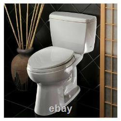 TOTO Drake Two Piece Toilet 1.6 GPF, Elongated, ADA, Cotton White TOTO