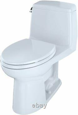 TOTO MS854114SL#01 Ultramax ADA One Piece Toilet, Cotton White
