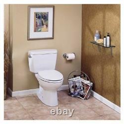 Toto Eco Drake Two-Piece Round 1.28 GPF Toilet, Cotton White CST743E#01