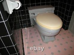 Vintage 1958 Mid century modern Case toilet 1000 series Gray