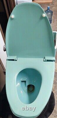 Vintage American Standard Green Vent Away Low Boy Toilet Side Flush Complete