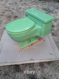 Vintage Kohler Pompton Toilet, Fresh Green, Low Profile, One Piece, Retro K3400