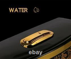 WESTSHORE BATHROOM Luxury Black TOILET DESIGN MODEL WITH GOLD FLOWERS WC