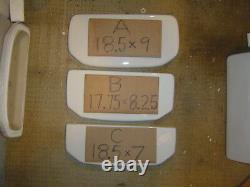 WHITE 17.5 X 8.5 Gerber toilet tank commode 28-590 28 590 VIPER, lid sep. WHITE