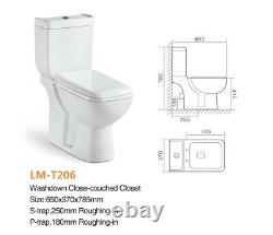 Washdown-closet- two-piece Toilet (S TRAP) LM- T206 Bargain price (021)