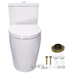 WinZo WZ5028 Elongated Dual Flush One Piece Toilet & Soft Close Seat White