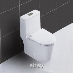 WinZo WZ5079 Compact Short One Piece Toilet Dual Flush For Small Bathroom White
