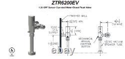 ZURN ZTR6200-EV 1.28 GPF Sensor Operated Flush Valve